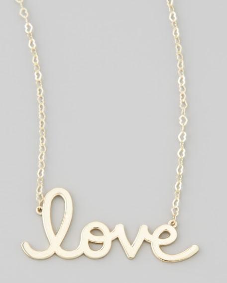 Gold Love Pendant Necklace