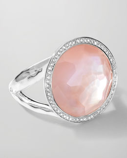 Ippolita Stella Lollipop Ring in Pink Mother-of-Pearl Doublet with Diamonds, 0.23