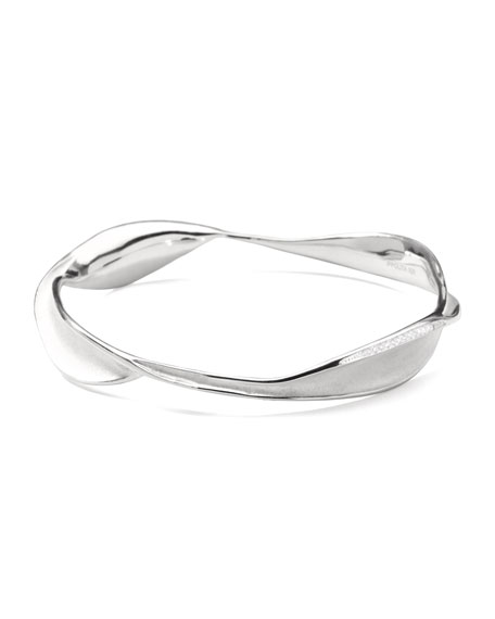 Sterling Silver Venezia Links Bangle with Diamonds