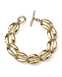 Ippolita 18K Gold Glamazon Coffee Bean-Link Bracelet