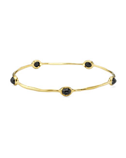 Ippolita 18K Gold Rock Candy 5-Stone Lollipop Bangle in Black Onyx