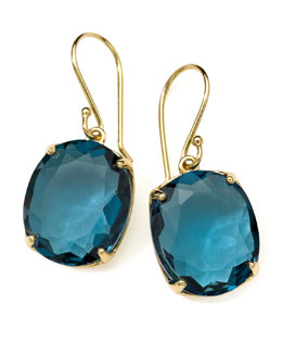 Ippolita 18K Rock Candy Gelato Kiss Drop Earrings in London Blue Topaz