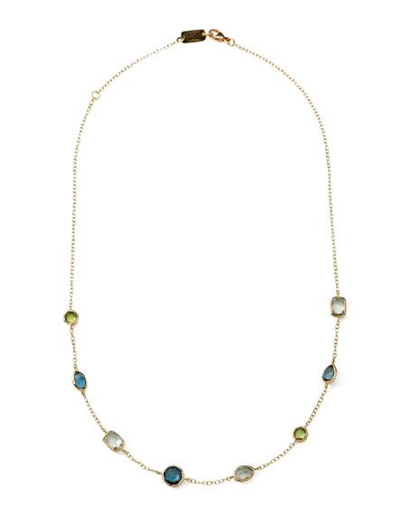 "18k Gold Rock Candy Mini Gelato Station Necklace in Tartan, 16-18"""