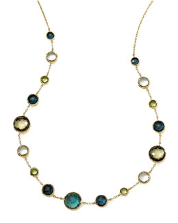 Ippolita 18k Gold Rock Candy Lollitini Necklace in Tartan, 16-18""