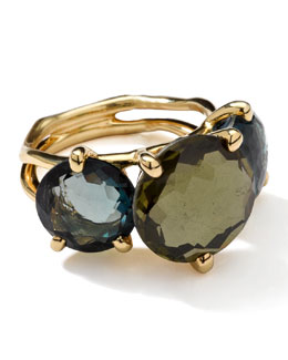 Ippolita 18k Gold Rock Candy Gelato 3-Stone Ring, Tartan