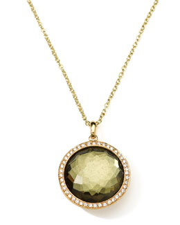 Ippolita 18K Gold Rock Candy Lollipop Necklace in Pyrite & Diamonds