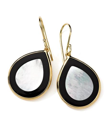 18K Gold Polished Rock Candy Mini Teardrop Earrings in Jazz