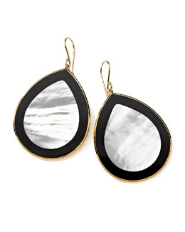 Ippolita 18K Gold Polished Rock Candy Jumbo Teardrop Earrings in Jazz