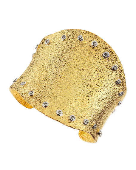 Crystal-Studded Large Cuff