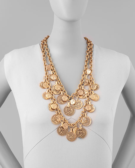 Two-Strand Coin Necklace