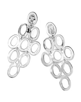 Ippolita Silver Open Cascade Clip-On Earrings