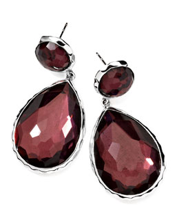 Ippolita Sterling Silver Wonderland Teardrop Snowman Post Earrings in Boysenberry