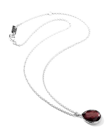 """Sterling Silver Wonderland Mini Teardrop Pendant Necklace in Boysenberry 16-18"""""""