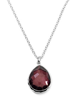 Ippolita Sterling Silver Wonderland Mini Teardrop Pendant Necklace in Boysenberry 16-18""