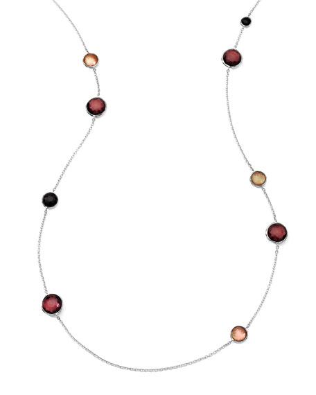 "Sterling Silver Wonderland Lollipop Station Necklace in Pizzelle 40"""
