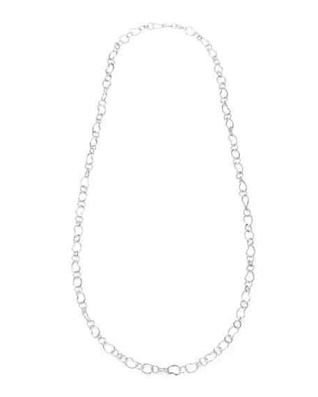 Classic Sterling Silver Layer Chain Necklace 41.5""