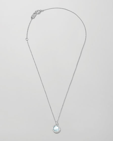 Stella Lollipop Necklace in Blue Topaz & Diamonds 16-18""