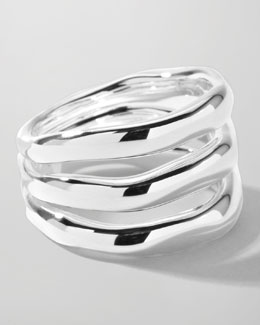 Ippolita Sterling Silver Smooth 3-Layer Ring
