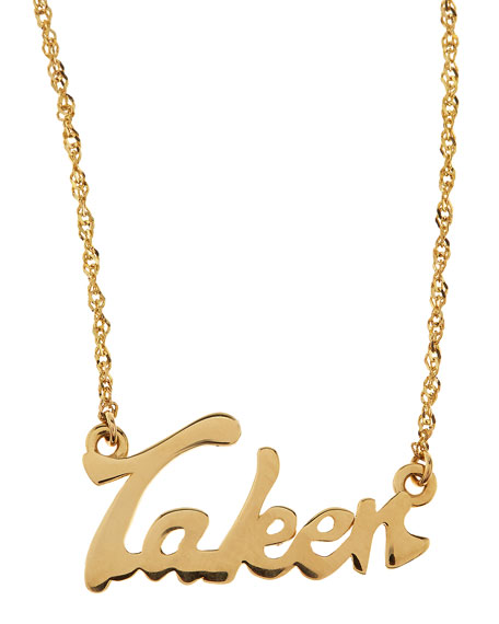 Mini Taken 14k Gold Necklace