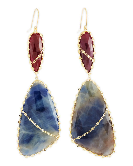 Femme Sapphire Drop Earrings