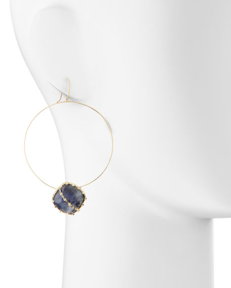 Mesmerize Frontal Hoop Earrings, Gold
