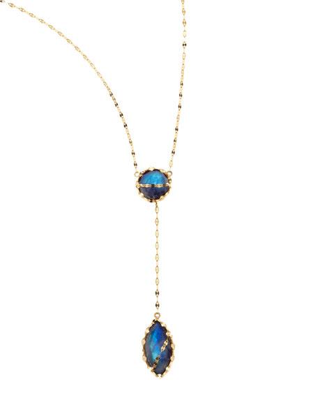 Mesmerize Moonstone/Onyx Necklace