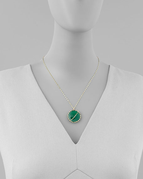 Glow Green Onyx 14k Gold Necklace