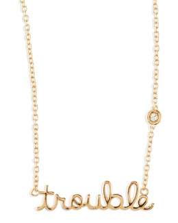 SHY by Sydney Evan Trouble Bezel-Diamond Necklace