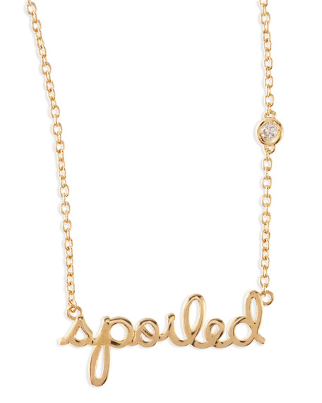 Spoiled Bezel-Diamond Necklace