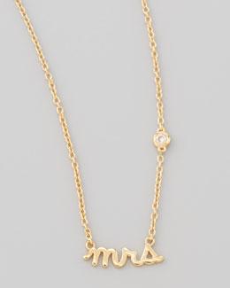 Mrs. Bezel-Diamond Pendant Necklace