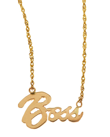 Mini Boss 14k Gold Necklace