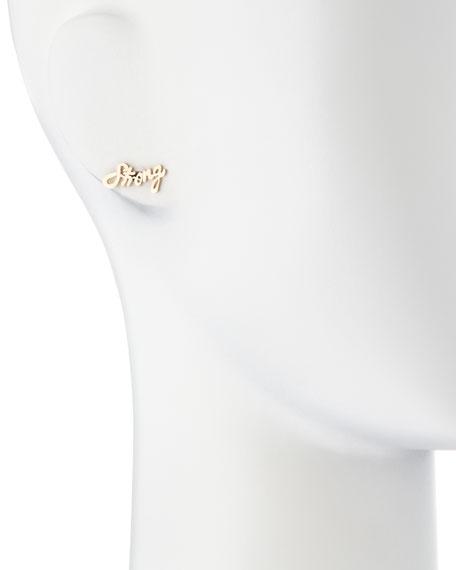 Strong Mini 14k Gold Single Earring