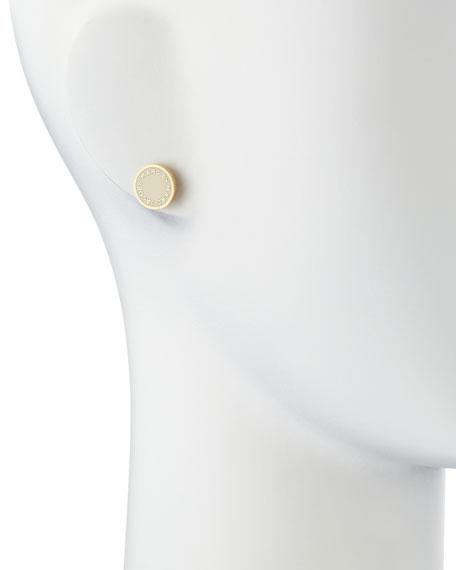 50d7e898d8015 MARC by Marc Jacobs Enamel Logo Disc Stud Earrings