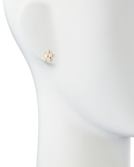 Daisy Stud Earrings, Cream/Golden