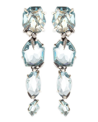 Midnight Marquise Blue Quartz Drop Earrings
