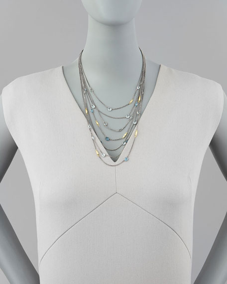 Midnight Marquise 18k Multi-Strand Necklace