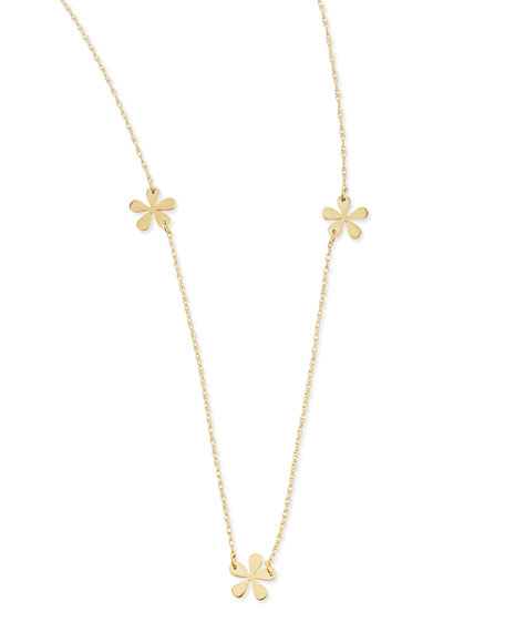 """Short Mini Flower Necklace, 23""""L"""
