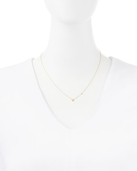 Heart Bezel-Ruby Pendant Necklace
