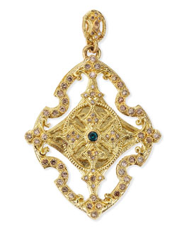 Armenta 18k Yellow Gold & Diamond Cross Enhancer