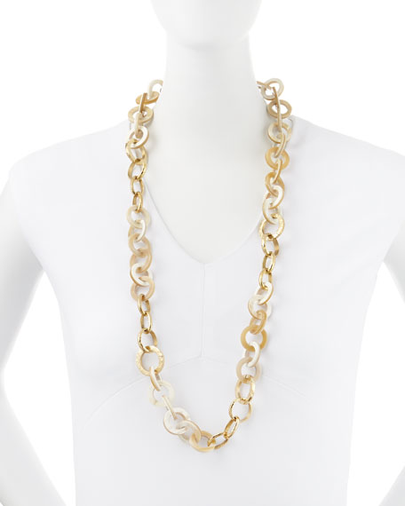 Mawani Light Horn & Bronze Necklace