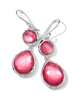 Ippolita Sterling Silver Wonderland Mini Teardrop Snowman Earrings, Peony