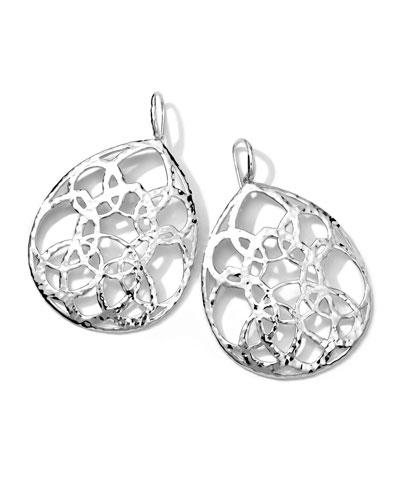 Sterling Silver Wonderland Cutout Large Teardrop Earrings