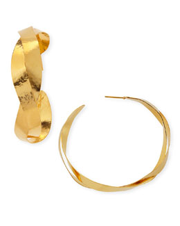 Herve Van Der Straeten Ruban Twisted Hoop Earrings