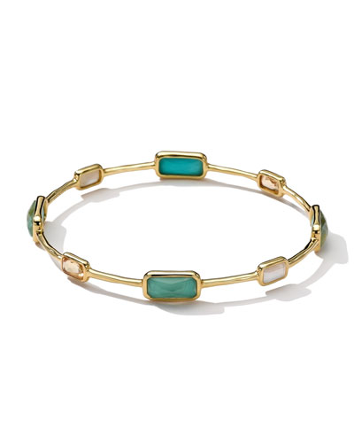 18k Gold Rock Candy Gelato 8-Stone Bangle, Sailor