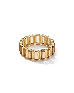 18k Gold Rock Candy Gelato Mini-Stone Vertical Ring, Cognac