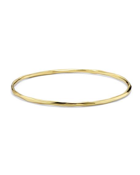 18K Gold Glamazon Thin Faceted Bangle