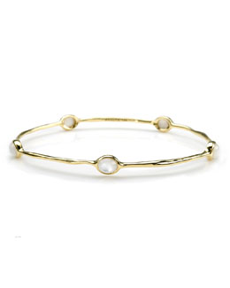 Ippolita 18K Gold Rock Candy Lollipop 5-Stone Bangle in Mother-of-Pearl
