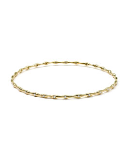 Ippolita 18K Gold Superstar 29-Diamond Bangle (0.44ctw)