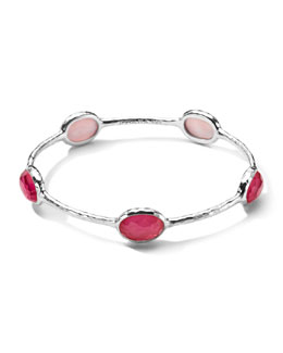 Ippolita Sterling Silver Wonderland 5-Stone Bangle in Peony