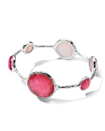 Sterling Silver Wonderland Lollipop Bangle in Peony